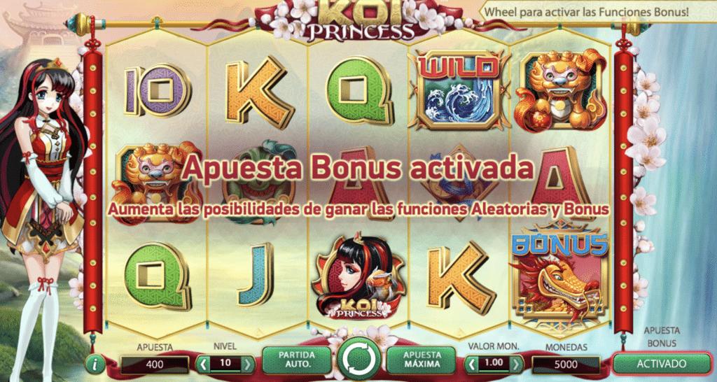 Koi Princess Apuesta Bonus