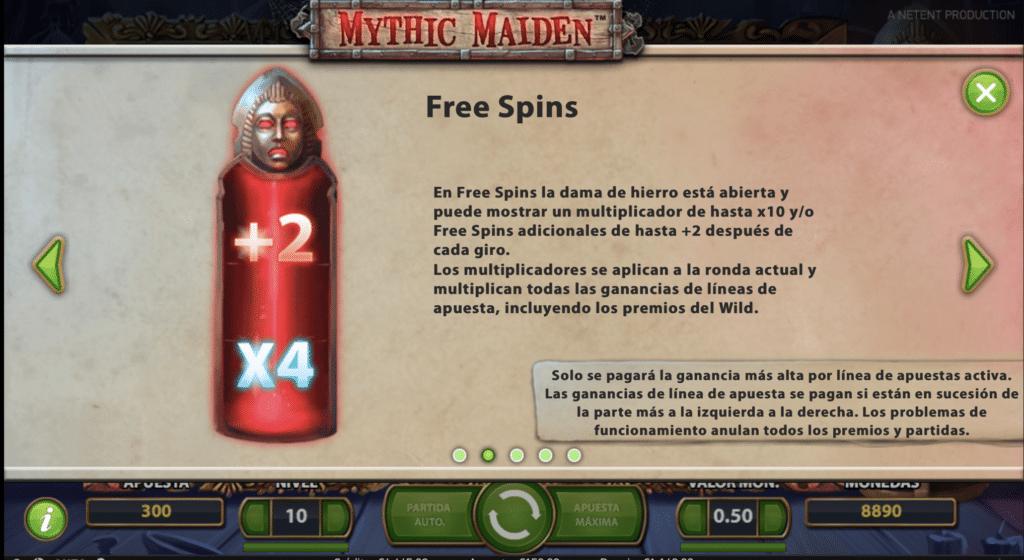 Mythic Maiden free spins