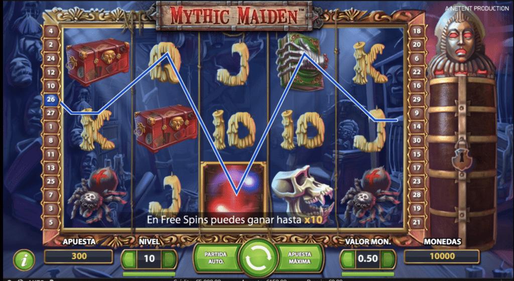 Mythic Maiden tragaperras