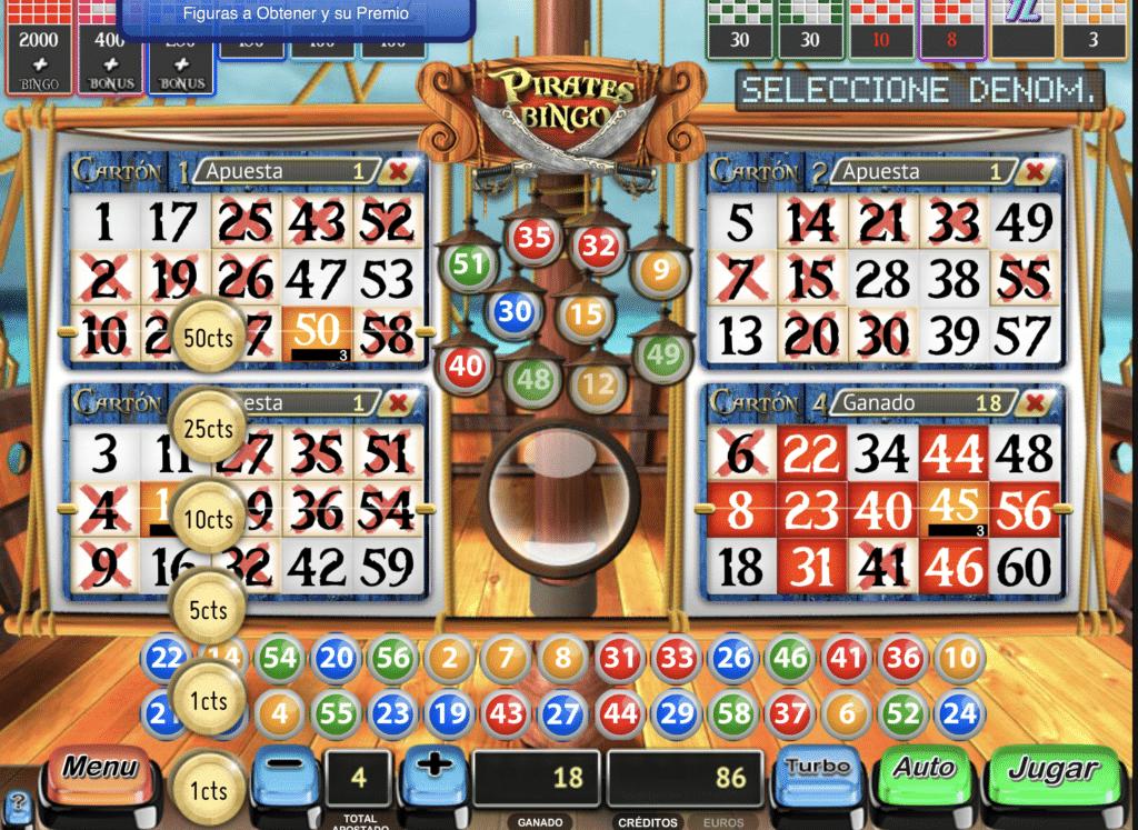 Pirates Bingo juego