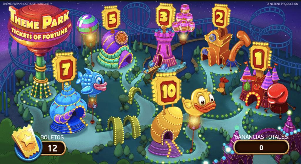 Theme Park juegos de bonificación