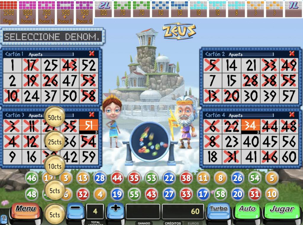 Zeus Bingo tragaperras juego