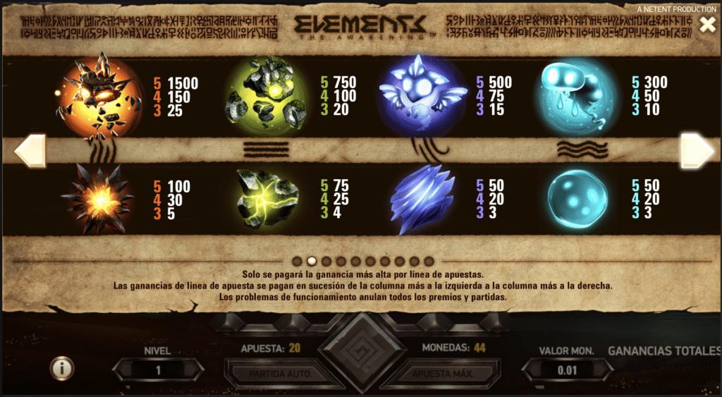 Elements pagos