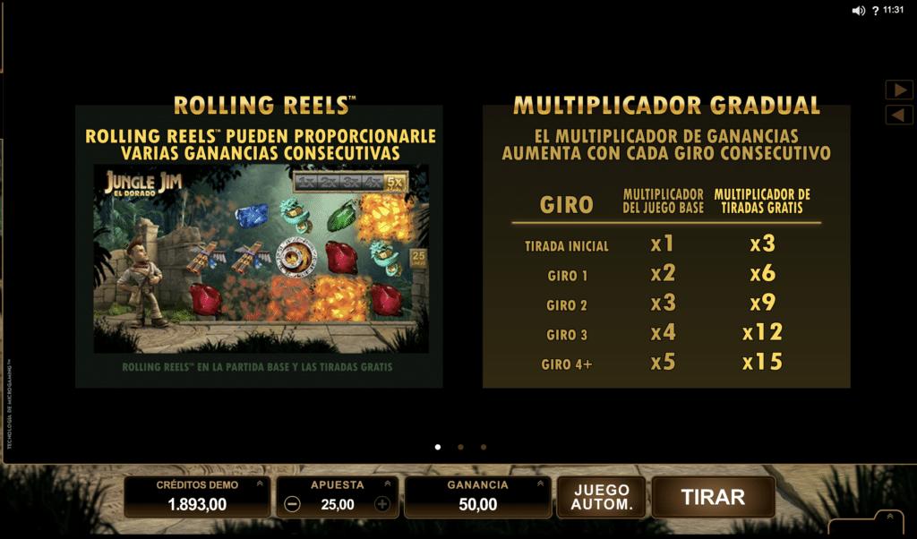 Jungle Jim Rolling Reels