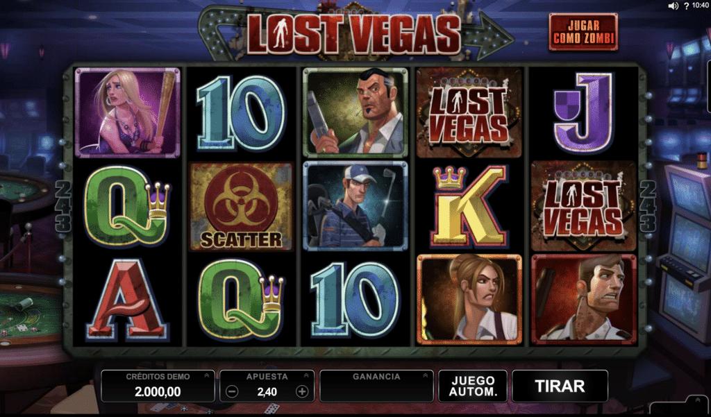 Lost Vegas tragaperras