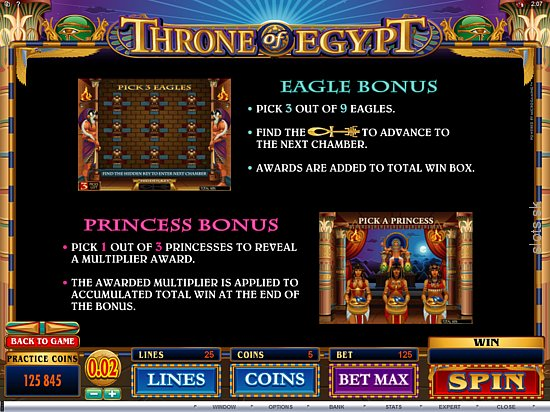 Throne of Egypt pagos