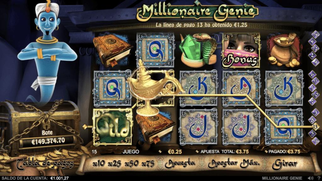 Millionaire Genie jugando