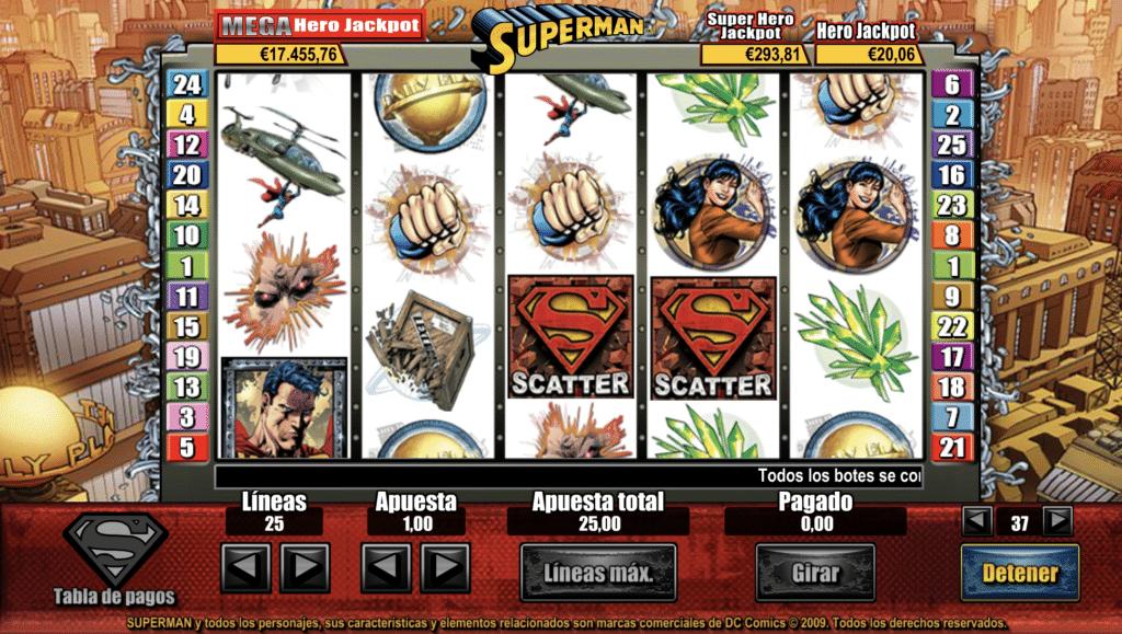 Superman jugando