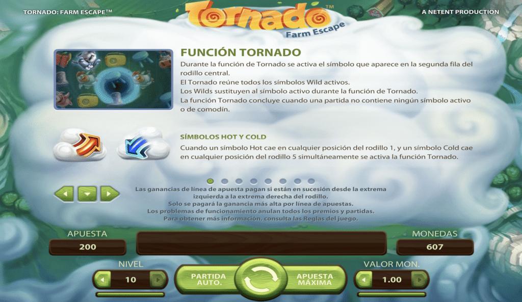 Tornado función tornado