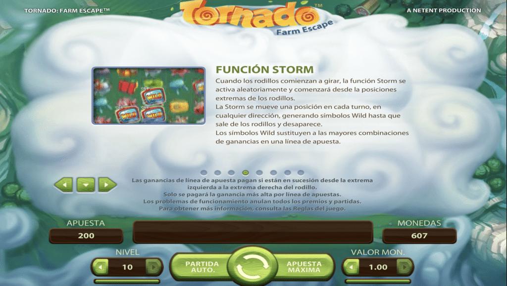 Tornado Función Storm