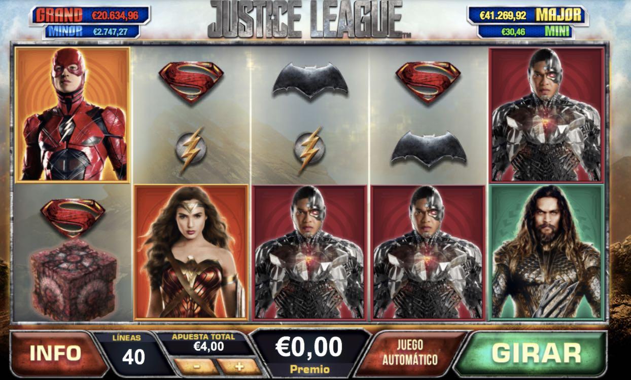 Justice League tragaperras