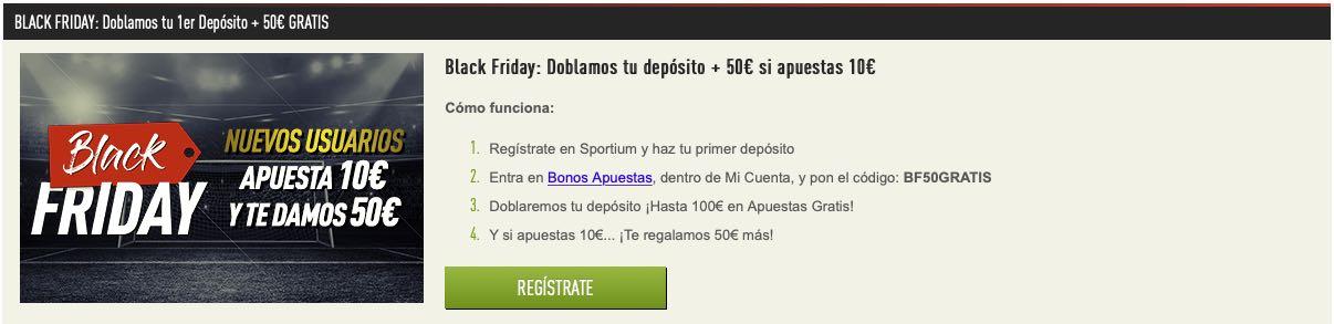 Sportium Black Friday