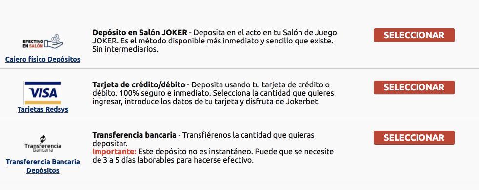 Jokerbet depósito