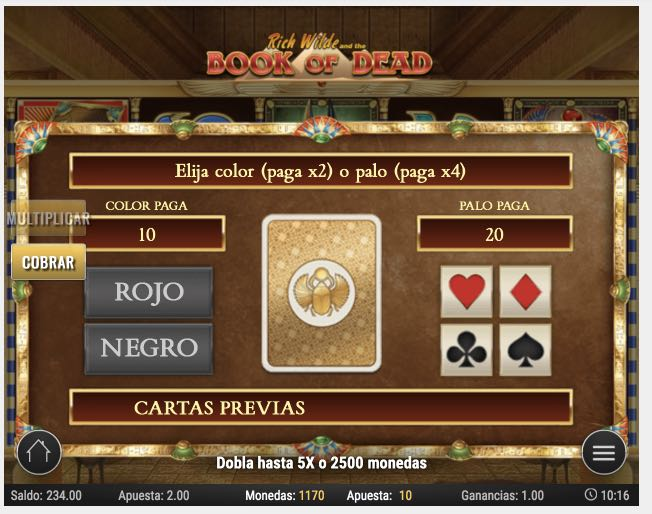 Book of Dead juego