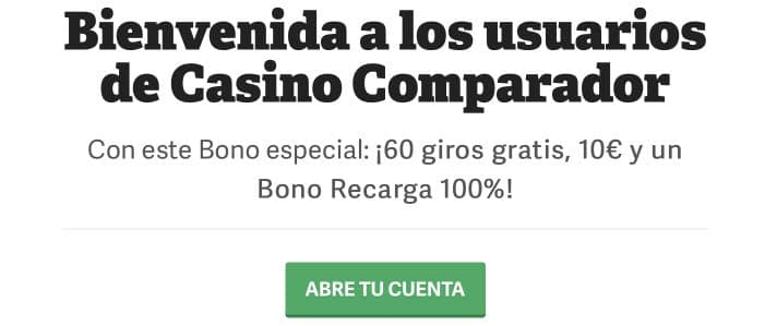 CasinoComparador Paf bonus