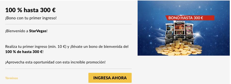 StarVegas bono de bienvenida