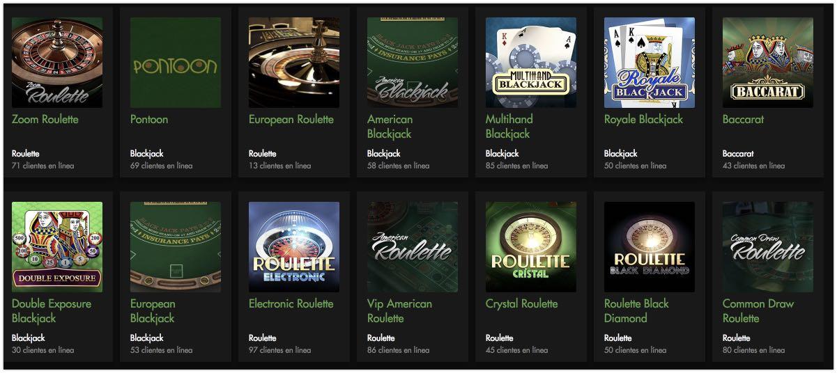 Rich Casino Juegos de mesa