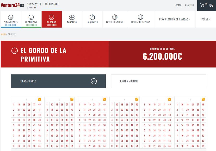 Lotería Online Ventura24