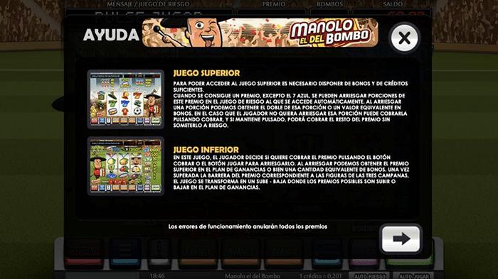 CasinoComparador Manolo el del Bombo instrucciones