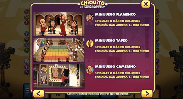 Chiquito minijuegos