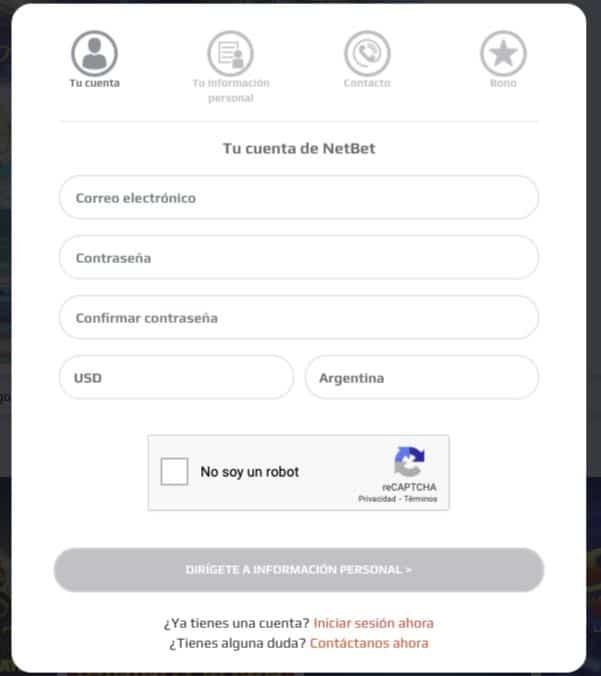 NetBet-Registro