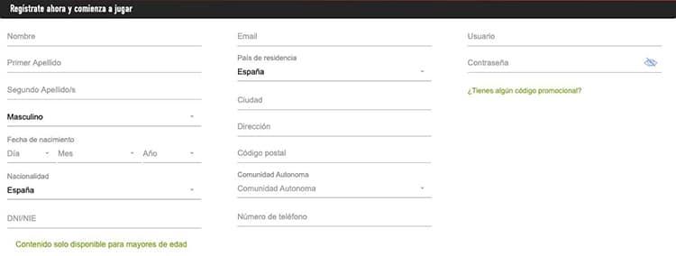 Sportium-registro