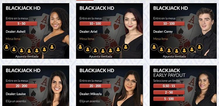 Blackjack en JuegaEnLínea