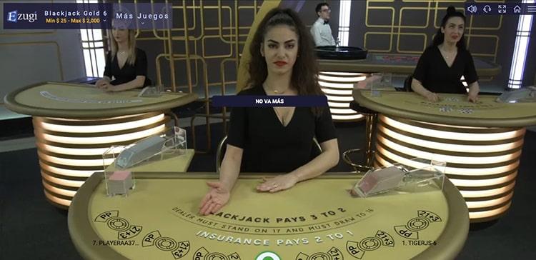 Blackjack en vivo en JuegaEnLínea