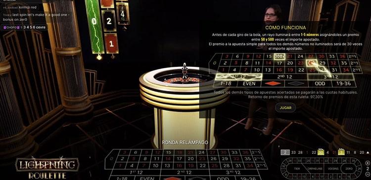 Ruleta en vivo Casino Estrella