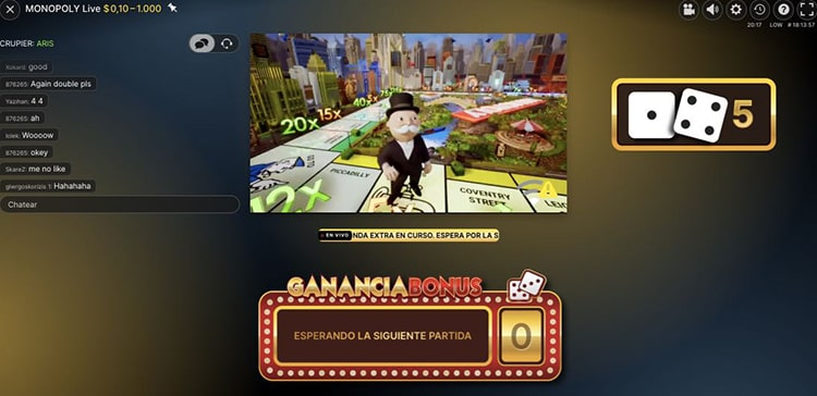 Monopoly en Spin casino